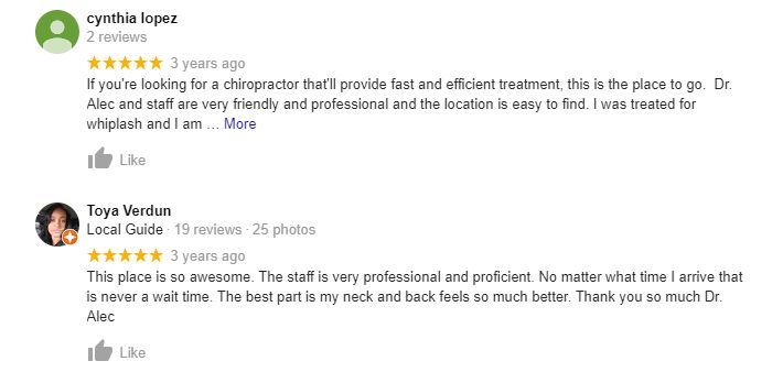 Chiropractic Charlotte NC Testimonials Fourty Four