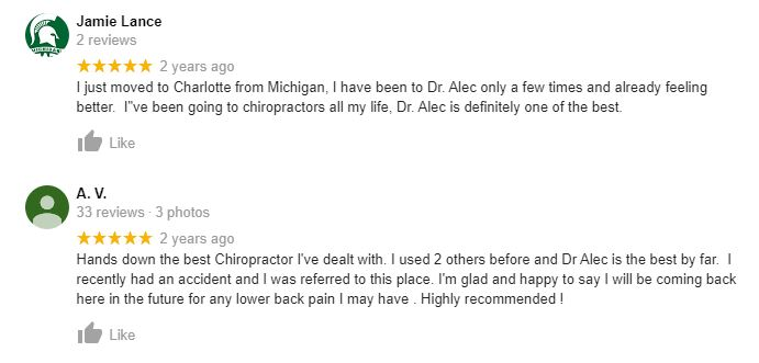 Chiropractic Charlotte NC Testimonials Fourty One